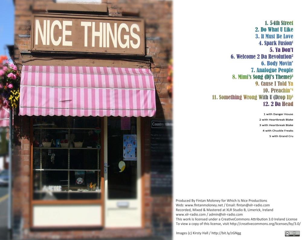 Nice Things - CD Back