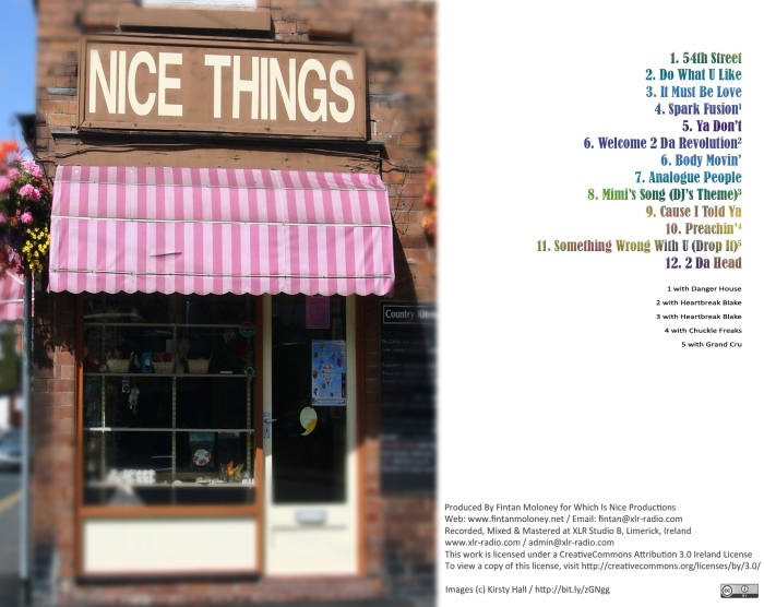 Nice Things - CD Back